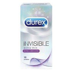 Prezerwatywy Durex Invisible Extra Lubricated - opakowanie 10 szt. - dodatkowe nawilżenie
