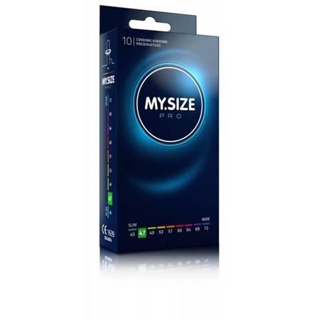 MY.SIZE 47 Dopasowane prezerwatywy - 10 szt